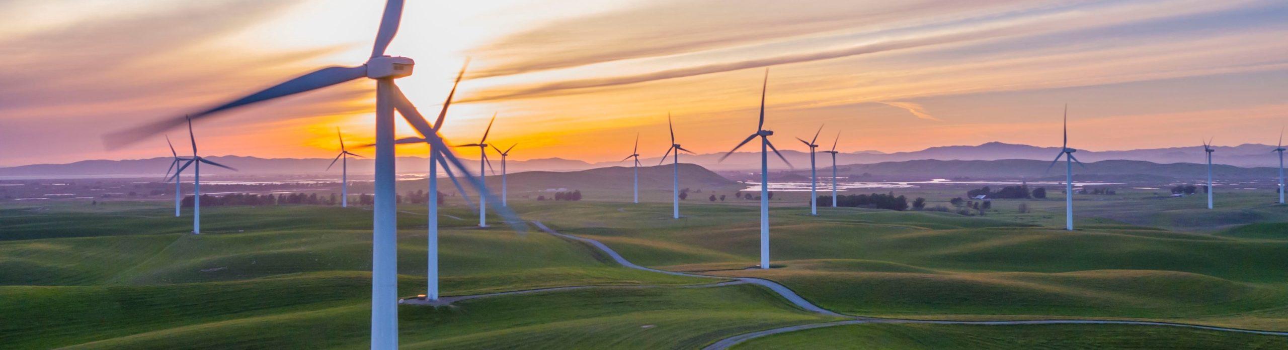 Paysage d'éoliennes