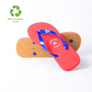 Tongues 100 % caoutchouc recyclé, made in europe