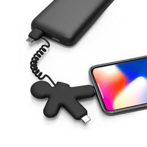 Cable éco multi-connecteur USB, type C, lightning