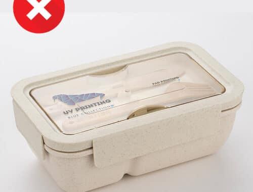 Lunchbox en paille de blé + pp